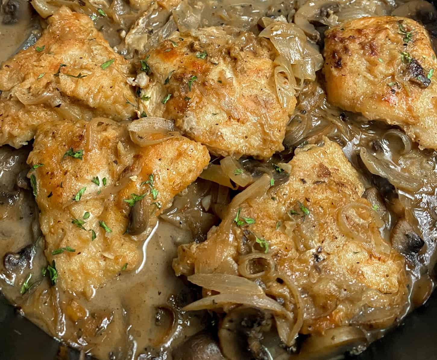 Chicken Marsala close up