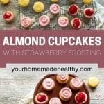 Pinterest pin for almond cupcakes.