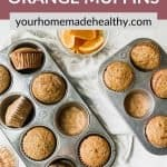 Pinterest pin for spiced orange muffins.